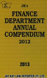 Finance Department Annual Compendium 2012