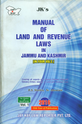 Manual Of Land And Revenue Laws In Jammu And Kashmir