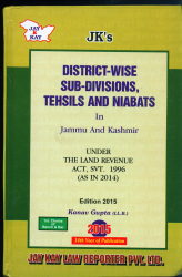 District-Wise Sub-Divisions, Tehsils And Niabats In J&K