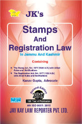 Stamps And Registration Law In Jammu And Kashmir