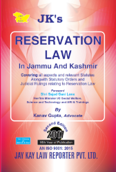 Reservation Law In Jammu And Kashmir