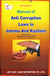 Manual Of Anti-Corruption Laws In J&K
