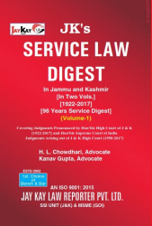 Service Law Digest In J&K (In Two  Vols.)