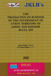 Transaction Of Business Of The Government Of Union Territory Of Jammu And Kashmir Rules, 2019