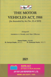 Motor Vehicles Act, 1988 [As Amended by Act No. 32 of 2019]